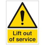 Lift Out Of Service - Portrait