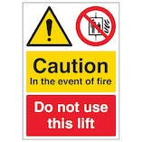 Caution In The Event Of Fire - A4