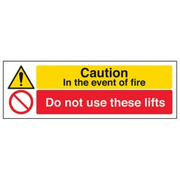 Caution In The Event Of Fire Do Not Use These Lifts - Landscape