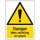 Danger Men Working On Plant - Portrait