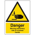 Danger Moving Machinery Risk Of Crushed Hands - Portrait