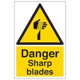 Danger Sharp Blades - Portrait