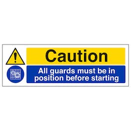 Caution All Guards Must Be In Position Before Starting - Landscape