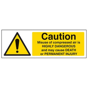 Caution Misuse Of Compressed Air - Landscape