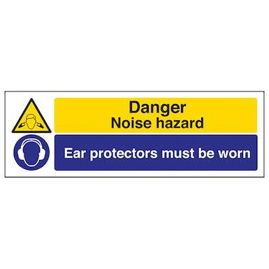 Danger Noise Hazard/Ear Protectors - Landscape