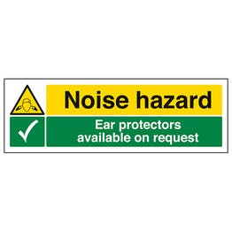 Noise Hazard/Ear Protectors Available