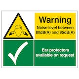 Noise Level Between 80dB and 85dB/Ear Protectors - Large Landscape