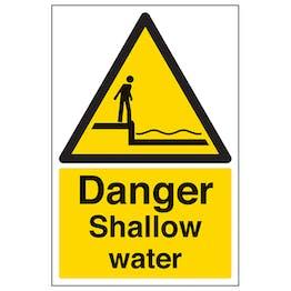Danger Shallow Water - Portrait