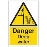 Danger Deep Water - Portrait