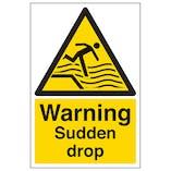 Warning Sudden Drop - Portrait