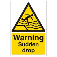 Warning Sudden Drop - Portrait