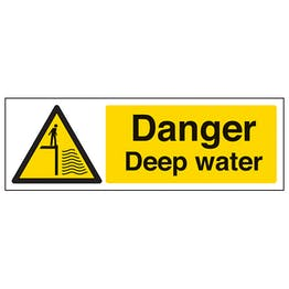 Danger Deep Water - Landscape