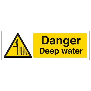 Danger Deep Water - Landscape