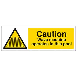 Caution Wave Machine Operate In This Pool - Landscape
