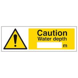 Caution Water Depth - Landscape