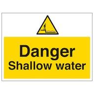 Danger Shallow Water - Large Landscape