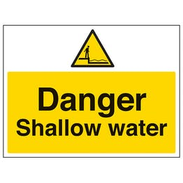 Danger Shallow Water - Large Landscape