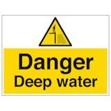 Danger Deep Water - Large Landscape