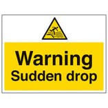 Warning Sudden Drop - Polycarbonate