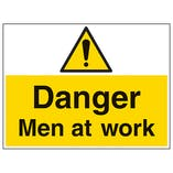 Danger Men At Work - Large Landscape
