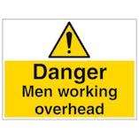 Danger Men Working Overhead - Large Landscape