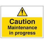 Caution Maintenance In Progress - Large Landscape