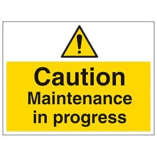 Caution Maintenance In Progress - Large Landscape