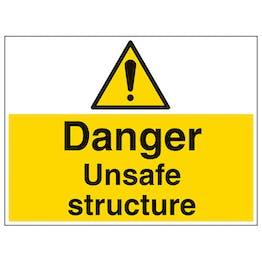 Danger Unsafe Structure - Large Landscape