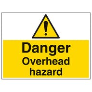 Danger Overhead Hazard - Large Landscape