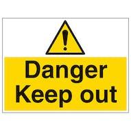 Danger Keep Out - Large Landscape