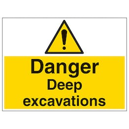 Danger Deep Excavations - Large Landscape