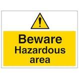 Beware Hazardous Area - Large Landscape