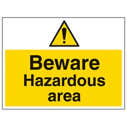 Beware Hazardous Area - Large Landscape
