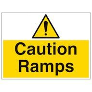 Caution Ramps - Large Landscape