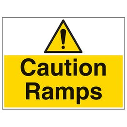 Caution Ramps - Large Landscape