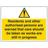 Residents & Other Authorised Users Are Warned - Large Landscape