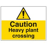 Caution Heavy Plant Crossing - Large Landscape