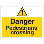 Danger Pedestrians Crossing
