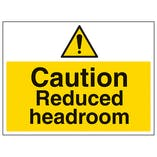 Caution Reduced Headroom - Large Landscape