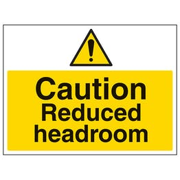 Caution Reduced Headroom - Large Landscape