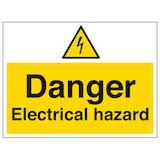 Danger Electrical Hazard - Large Landscape