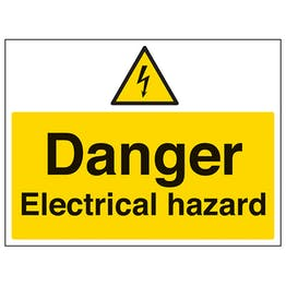 Danger, Electrical Hazard - Polycarbonate