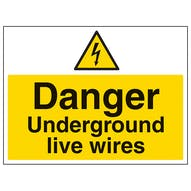 Danger Underground Live Wires - Large Landscape