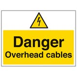 Danger Overhead Cables - Large Landscape