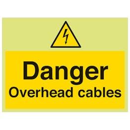 GITD Danger Overhead Cables