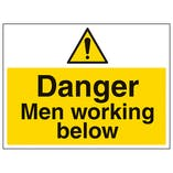 Danger Men Working Below - Large Landscape