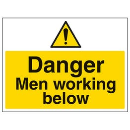Danger Men Working Below - Large Landscape