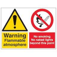 Flammable/No Smoking/No Naked Lights - Large Landscape