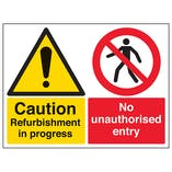 Caution Refurbishment In Progress / No Unauthorised Entry