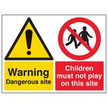 Warning Dangerous Site / Children Must Not Play On This Site